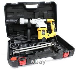 1300W SDS MAX ELECTRIC DEMOLITION HAMMER 4000 BPM 12A WithSDS-MAX SHOVEL & CHISELS