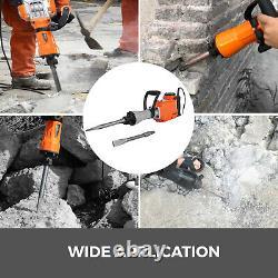 2200W Electric Demolition Hammer Jack Drill 2000 r/min Concrete Breaker 2 Chisel