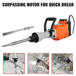 2200W Electric Demolition Jackhammer Jack Hammer Drill Concrete Breaker 2 Chisel