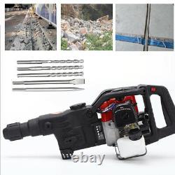 32.7CC 2 Stroke Gasoline Demolition Jack Hammer Jackhammer Concrete Breaker TOP