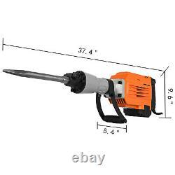 3500W Electric Demolition Jack Hammer Breaker 95mm Concrete 1400RPM Non-slip