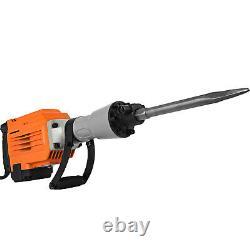 3600W Electric Demolition Jack Hammer Punch Trenching 360° swivel 2 Chisel Bit
