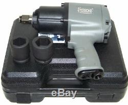 3/4 Drive Air Impact Wrench Twin Hammer 1250 ft/lb max 2 1 DR socket H D Gun