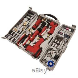 77pc Air Tool Kit Impact Gun Grinder Wrench Hammer Chisel Compressor Die Storage