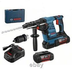 Bosch GBH 36 VF-LI SDS + Rotary Hammer 2 X 4 Ah Battery (0611907075)