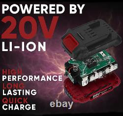 Cordless 20v Li Ion Hammer Drill & Impact Driver Kit 2 x 4Ah Batteries & Charger