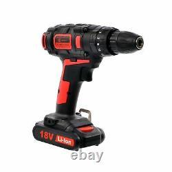 Cordless Hammer Drill & Impact Driver Set 18V 3.0AH Li-Ion