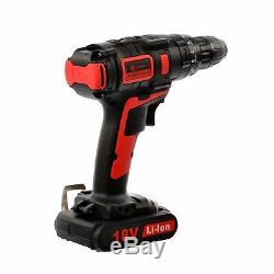 Cordless Hammer Drill & Impact Driver Set 18V 4.0Ah Li-Ion
