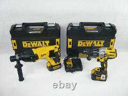 DEWALT 18V 2x4Ah Akku Schlag Schrauber Bohrhammer Set DCH133 + DCD996 im TSTAK