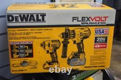 DEWALT DCK299D1T1 20V MAX FLEXVOLT Brushless Hammer Drill Impact Driver Kit