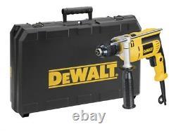 DEWALT DW024K Mains Percussion Impact Hammer Drill, Keyless Chuck & Case, 240v