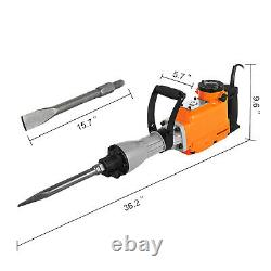 Demolition Hammer Concrete Breaker Jack hammer Drill Electric 1500W 2-Chisels