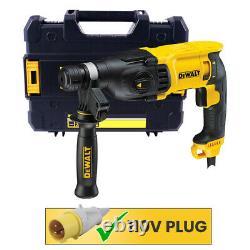 Dewalt D25133K 2kg 3 Mode 26mm SDS+ Rotary Hammer Drill 800W 110V