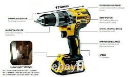 Dewalt DCD796P2 18v XR Brushless Compact Combi Hammer Drill 2 x 5.0ah Battery