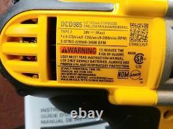 Dewalt DCD985B 20V MAX Li-Ion Premium 1/2 Hammer Drill withBelt Clip-NEW
