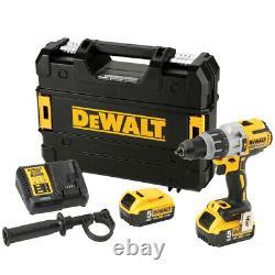 Dewalt DCD996P2 18V XR Brushless Combi Hammer Drill with 2 x 5.0Ah Batteries