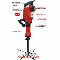 Electric Jack Hammer Concrete Breaker works with Dewalt Makita Bosch Accessories