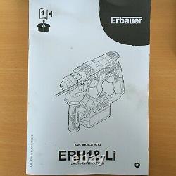 Erbauer ERH18-Li 18V Li-Ion EXT Brushless Cordless SDS Plus Hammer Drill KIT