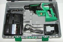 Hitachi DH25DAL 25.2V Lithium Ion SDS-Plus Rotary Demolition Hammer Drill 3.0Ah