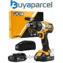 JCB 18BLCD-2-B 18V Brushless Combi Hammer Drill Metal Chuck 2x 2.0Ah Battery