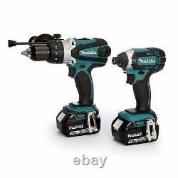 Makita 18V DHP458Z Combi Hammer + DTD152Z Impact Driver + 2 BL1850 Batteries