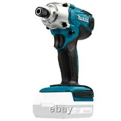 Makita 18v DK18267 Kit Combi Hammer Drill, Impact Driver, Jigsaw + 2 Batteries