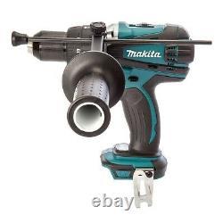 Makita DHP458Z 18v Lithium Ion LXT Combi Hammer Drill Metal Chuck + Makpac Inlay