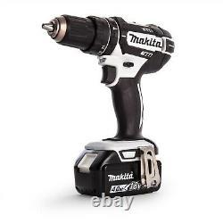 Makita DHP482RMW1J 18v LXT Combi Hammer Drill White 1 x 4.0ah Battery + Charger