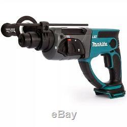 Makita DHR202Z LXT 18v SDS Hammer Drill 3 Function + Bits Chisel Chuck + Makpac