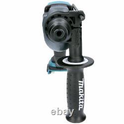 Makita DHR202Z SDS+ Rotary Hammer Drill + 4pc Drill Chisel Set & Keyless Chuck