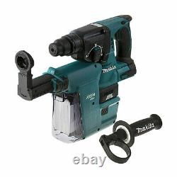 Makita DHR242ZV 18v SDS+ Brushless Hammer Drill With Extractor (Body Only)