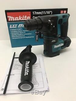 Makita Dhr171z 18v Lxt Sds Plus Brushless Rotary Hammer 17mm Body Only