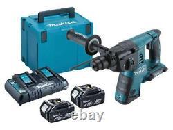 Makita FFXDHR263KIT/5 36v DHR263 5.0Ah SDS Plus Hammer Drill Kit 3 Mode + Case