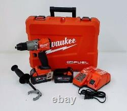 Milwaukee 2806-22 M18 FUEL 1/2 Hammer Drill/Driver Kit with1-Key compatible