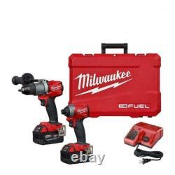 Milwaukee 2997-22 M18 Hammer Drill & Impact Driver Combo Kit 2X 5Ah Batteries
