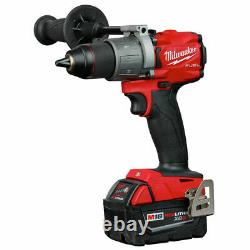 Milwaukee 2997-22 M18 Hammer Drill & Impact Driver Combo Kit with(2) 5Ah PACKS