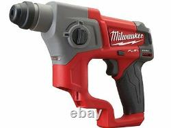 Milwaukee M12CH-0 12v Compact SDS Rotary Hammer Drill Bare Unit Only