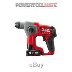 Milwaukee M12CH-602X 12v Fuel 2x6Ah Li-ion SDS Hammer Drill