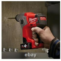 Milwaukee M12CH-X 12V Compact SDS Hammer Drill with Case (Body Only)