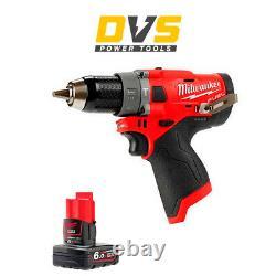 Milwaukee M12FPD-0 12V M12 FUEL Hammer Drill Driver 1x 6Ah Battery M12B6