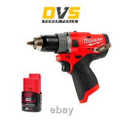 Milwaukee M12FPD-0 12V M12 FUEL Hammer Drill Driver with 1x 2Ah Battery M12B2