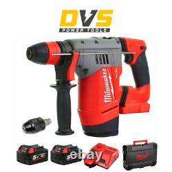 Milwaukee M18CHPX-502X 18v Li-Ion Fuel High Performance SDS+ Hammer Drill 2x5Ah