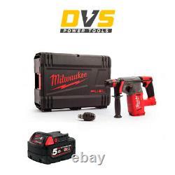 Milwaukee M18CHX-0 M18 Fuel SDS+ Hammer Drill 1 x 5Ah M18B5 Battery, Case
