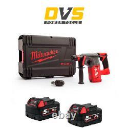 Milwaukee M18CHX-0 M18 Fuel SDS+ Hammer Drill 2 x 5Ah M18B5 Batteries, Case