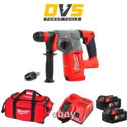 Milwaukee M18CHX-502X M18 Fuel 18v SDS Plus Hammer Drill 2x5Ah Batteries M18B5