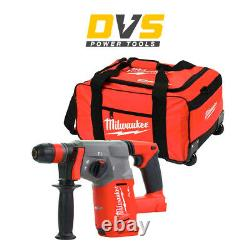 Milwaukee M18chx-0 Sds-plus Hammer Drill Body Only & 19'' Wheeled Tool Bag