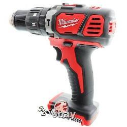 New Milwaukee 2607-20 M18 Li-Ion 2.0 Ah 18V 1/2 Compact Hammer Drill/Driver Kit
