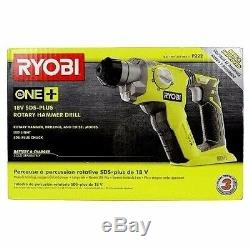 New Ryobi 18 Volt Sds-plus Rotary Hammer Drill Driver P222