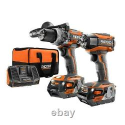 RIDGID GEN5X Brushless 18-Volt Compact Hammer Drill/Driver and 3-Speed Impact