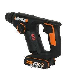 WORX WX394.3 18V (20V MAX) Cordless 1.5Kg Rotary Hammer Drill